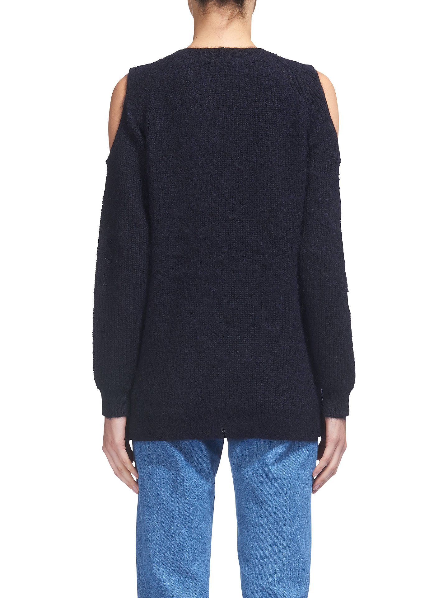 BuyWhistles Cold Shoulder Mohair Jumper, Navy, XS Online at johnlewis.com
