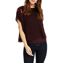 Buy Phase Eight Leigh Leaf Burnout Top, Jakarta Online at johnlewis.com