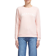 Buy Whistles Vacances Sweatshirt, Pale Pink Online at johnlewis.com