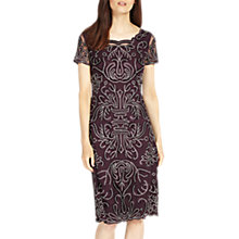 Buy Phase Eight Talia Embroidered Dress, Fig Online at johnlewis.com