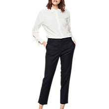 Buy Mint Velvet Cotton Cropped Trousers Online at johnlewis.com
