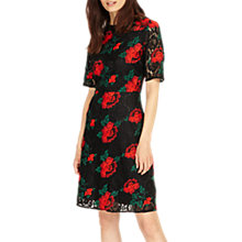Buy Phase Eight Embroidered Lace Dress, Black/Multi Online at johnlewis.com