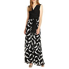 Buy Phase Eight Domenika Feather Dress, Black/Ivory Online at johnlewis.com