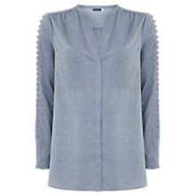 Buy Mint Velvet Chambray Shirt, Light Blue Online at johnlewis.com