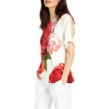 Buy Phase Eight Marie Floral Cold Shoulder Top, Multi Online at johnlewis.com