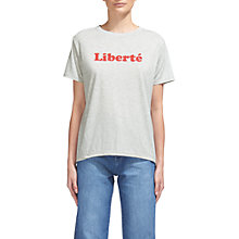 Buy Whistles Liberte T-Shirt, Grey Marl Online at johnlewis.com
