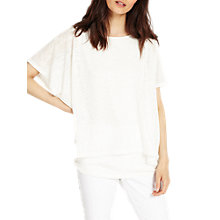 Buy Phase Eight Dot Double Layer Top, White Online at johnlewis.com