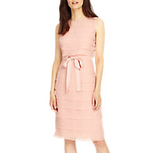 Buy Phase Eight Gaselle Layered Dress, Tea Rose Online at johnlewis.com