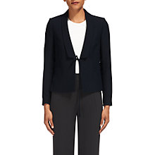 Buy Whistles Tie Front Relaxed Jacket, Navy Online at johnlewis.com