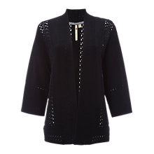 Buy White Stuff Harbour Crochet Knit Cardigan, Black Online at johnlewis.com