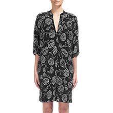 Buy Whistles Luna Carnation Print Dress, Black/White Online at johnlewis.com
