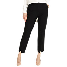 Buy Phase Eight Lucy Notch Hem Trousers, Black Online at johnlewis.com