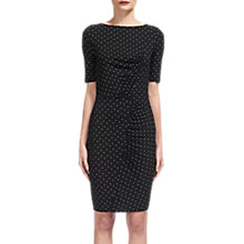 Buy Whistles Spot Print Jersey Bodycon Dress, Black/White Online at johnlewis.com