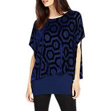 Buy Phase Eight Valerie Velvet Burnout Top, Persian Blue Online at johnlewis.com