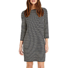 Buy Phase Eight Sam Textured Striped Tunic, Navy/Ivory Online at johnlewis.com