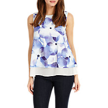 Buy Phase Eight Flora Vest Top, Blue Online at johnlewis.com
