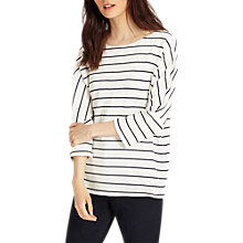 Buy Phase Eight Trish Textured Stripe Top, Ivory/Navy Online at johnlewis.com