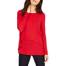 Buy Phase Eight Dita Double Layer Top, Sangria Online at johnlewis.com