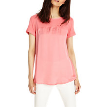 Buy Phase Eight Sally Satin Mix Top Online at johnlewis.com