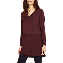 Buy Phase Eight Seraphina Top, Merlot Online at johnlewis.com