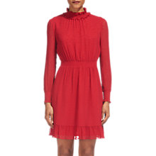 Buy Whistles Ilona Dobby Frill Dress, Red Online at johnlewis.com