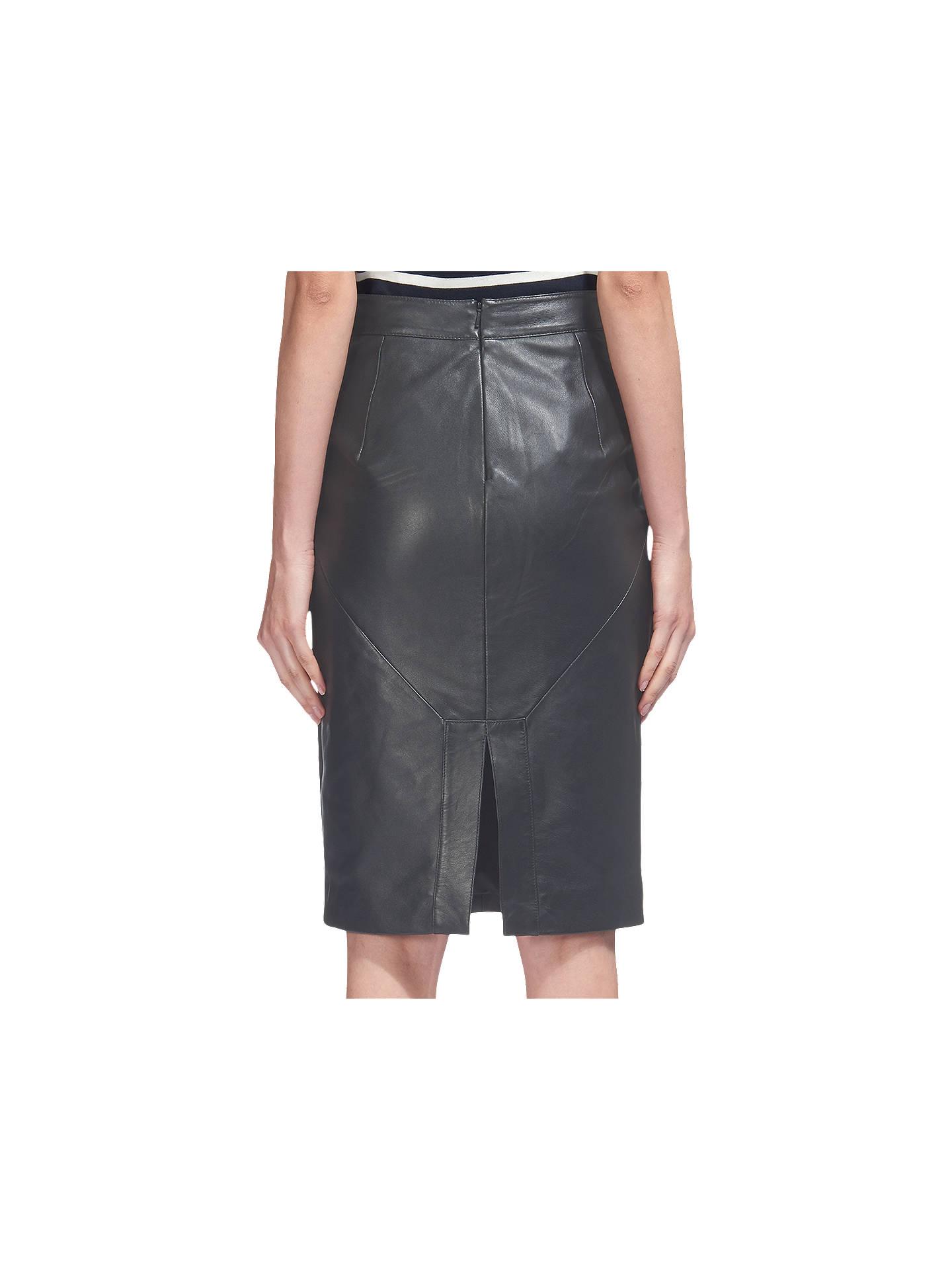 a2761252fe ... Buy Whistles Kel Leather Pencil Skirt, Black, 6 Online at johnlewis.com  ...