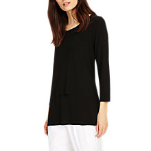 Buy Phase Eight Leela Layered Top, Black Online at johnlewis.com