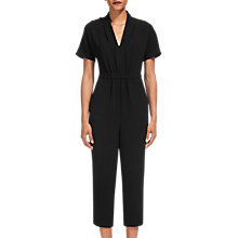 Buy Whistles Mercy Crepe Jumpsuit, Black Online at johnlewis.com