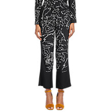 Buy Whistles Athena Silk Pyjama Trousers, Black/White Online at johnlewis.com