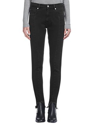 Whistles Stirrup Skinny Jeans, Black