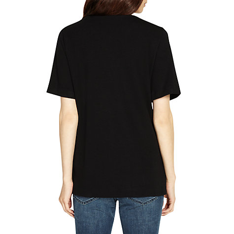 Buy Phase Eight Peppa Ponte Top, Black Online at johnlewis.com