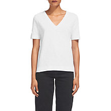 Buy Whistles Rosa Double Trim V-Neck T-Shirt, White Online at johnlewis.com