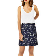 Buy Warehouse Crinkle Spot Skirt, Blue Online at johnlewis.com