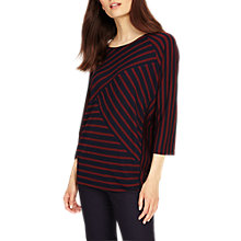 Buy Phase Eight Carrah Stripe Top, Navy/Brick Online at johnlewis.com