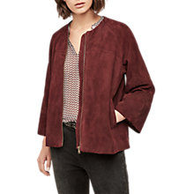 Buy Gerard Darel Oren Leather Jacket, Red Online at johnlewis.com
