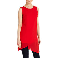 Buy Phase Eight Vance Sleeveless Tunic Top, Red Online at johnlewis.com