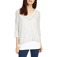 Buy Phase Eight Sharon Stripe Top, Multi/Silver Online at johnlewis.com