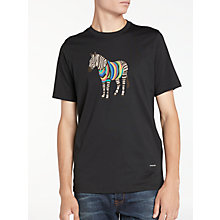 Buy PS by Paul Smith Large Zebra Print Crew T-Shirt Online at johnlewis.com