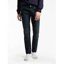 Buy PS by Paul Smith Tapered Fit Crosshatch Jeans, Navy Online at johnlewis.com