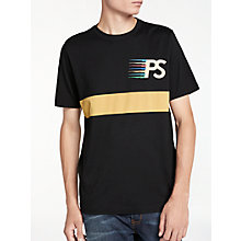 Buy PS by Paul Smith Stripe T-Shirt, Black Online at johnlewis.com