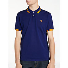 Buy PS by Paul Smith Twin Tipped Polo Shirt, Indigo Online at johnlewis.com