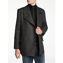 Buy PS by Paul Smith Check Car Coat, Grey Online at johnlewis.com