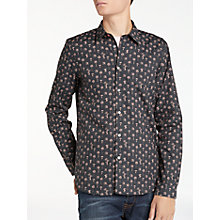 Buy PS by Paul Smith Mushrooms Long Sleeve Shirt, Black Online at johnlewis.com