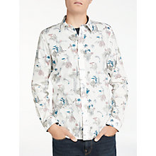 Buy PS by Paul Smith Floating Islands Long Sleeve Shirt, White Online at johnlewis.com
