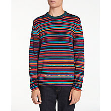 Buy PS by Paul Smith Multi Stripe Crew Neck Jumper, Multi Online at johnlewis.com