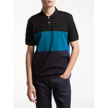 Buy PS by Paul Smith Block Stripe Polo, Black Online at johnlewis.com