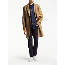 Buy PS by Paul Smith Button Epsom Wool Cashmere Overcoat, Camel Online at johnlewis.com