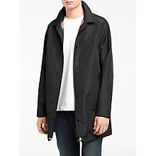 Buy PS by Paul Smith Long Reversible Coach Jacket, Black Online at johnlewis.com