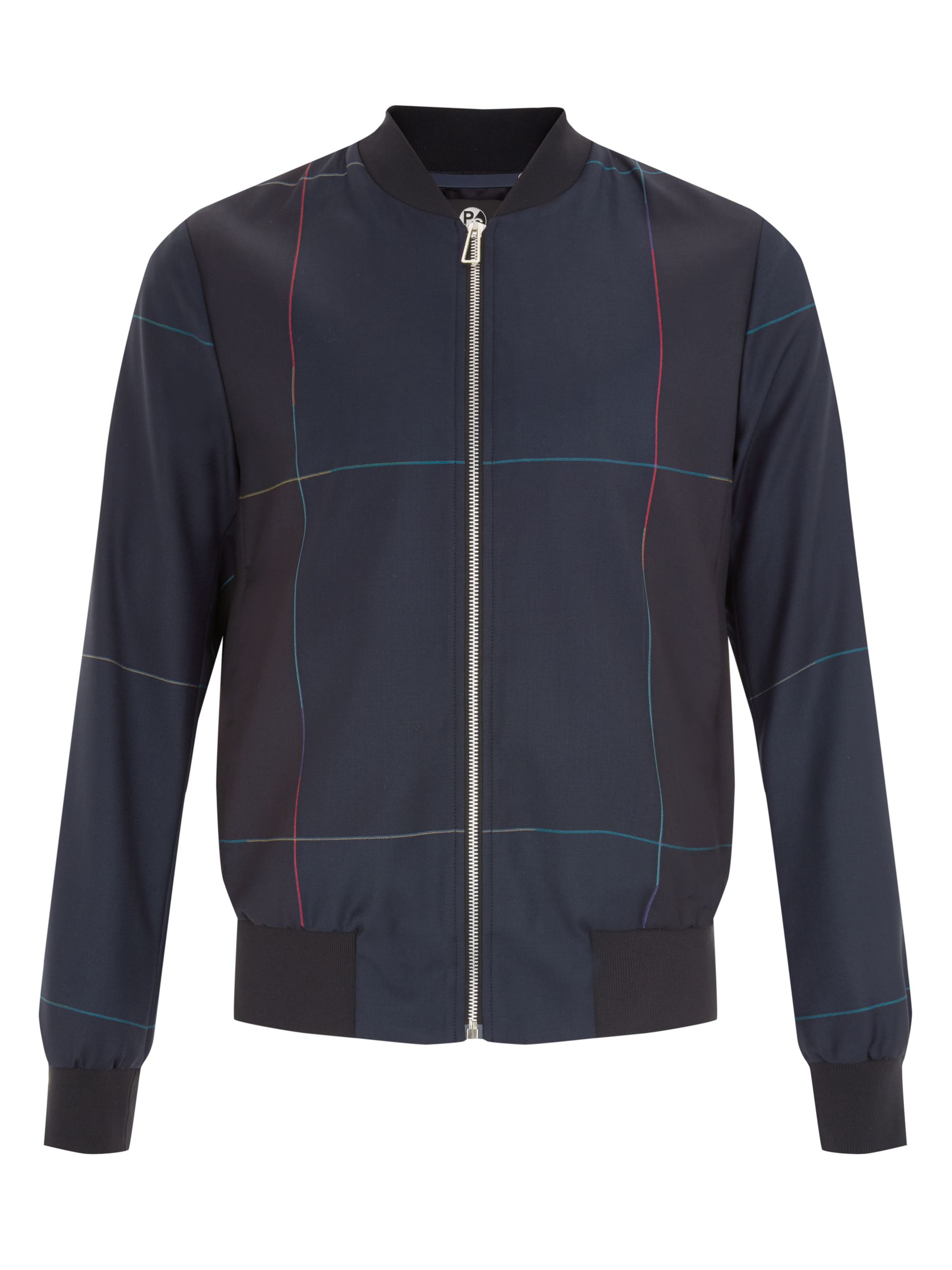 PS by Paul Smith Windowpane Check Wool Bomber Jacket