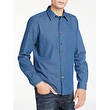 Buy PS by Paul Smith Lightweight Denim Long Sleeve Shirt, Blue Online at johnlewis.com